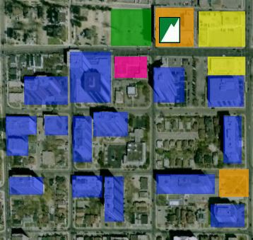 Click for a full map showing existing and new development in the area