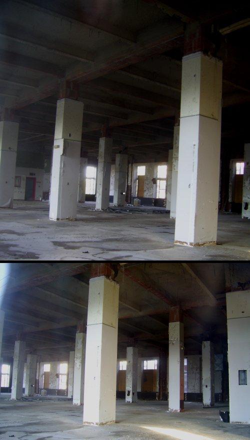 Inside of the main floor - a blank canvas!